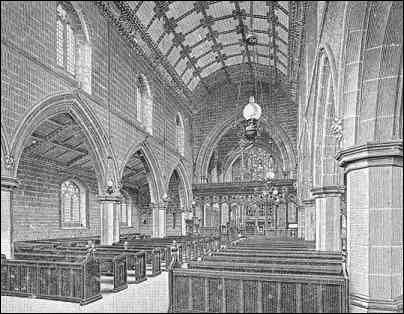The nave at St. Mary