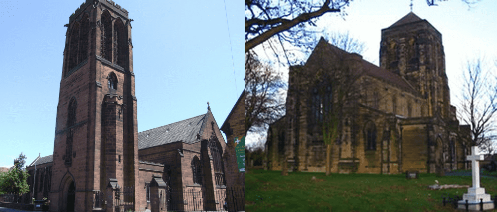 St. Chad's Church, Burton and St. Mary's, Stretton